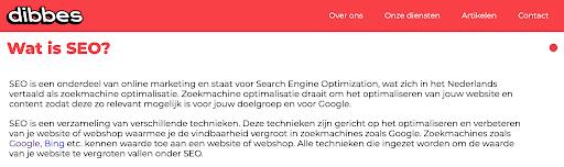 Opmaak van een website volgens Google Schema